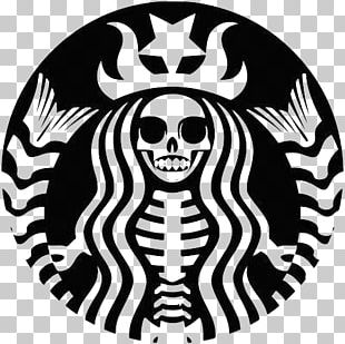 Silhouette Starbucks Logo Drawing PNG