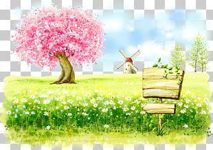 Cartoon Fukei Watercolor Painting U0e01u0e32u0e23u0e4cu0e15u0e39u0e19u0e0du0e35u0e48u0e1bu0e38u0e48u0e19 Illustration PNG