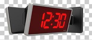 Radio Clock Display Device Digital Clock Alarm Clocks PNG