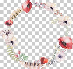 Stock Photography Wreath Watercolor Painting Flower PNG