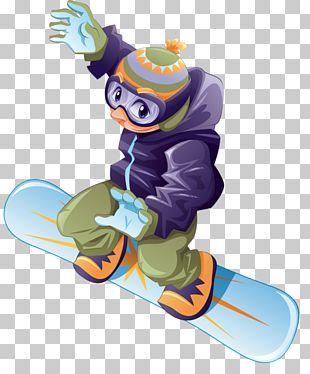 Snowboarding Cartoon Winter Sport Skiing PNG