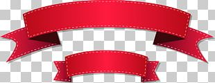 Red Ribbon Grosgrain PNG