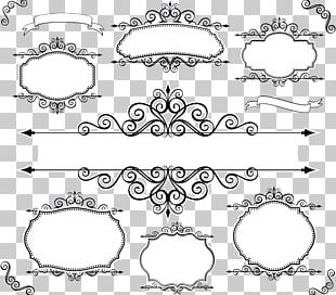 Lace Textile Line PNG