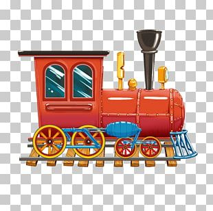 Train Toy Locomotive Computer File PNG