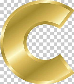 Letter Alphabet Gold PNG