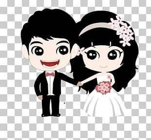 Couple Marriage Cartoon PNG