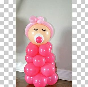 Baby Shower Party Infant Diaper Cake Toy Balloon PNG