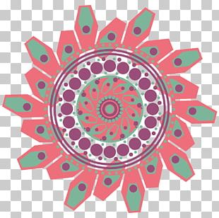 Mandala Aztec Circle Pattern PNG