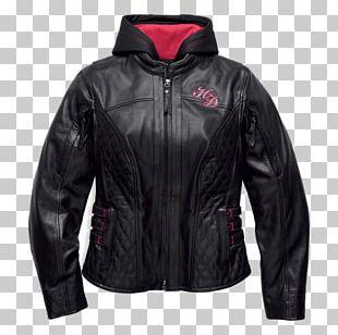 Leather Jacket Harley-Davidson Flight Jacket PNG