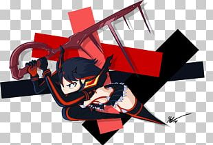 Ryuko Matoi Senketsu Art Graphic Design PNG