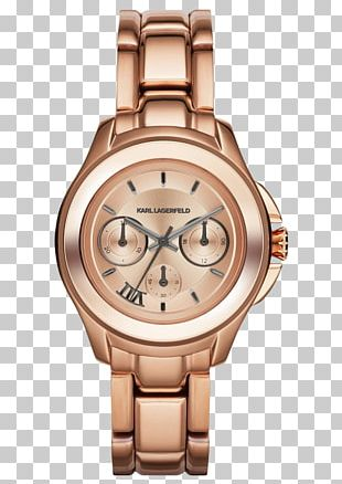 Watch Strap Bracelet ✅ Karl Lagerfeld Seven KL2408 Karl Lagerfeld Klassic Rose S/Steel Chrono PNG