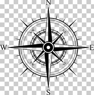 North Compass Rose Map PNG