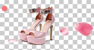 High-heeled Footwear Pink Sandal Shoe PNG