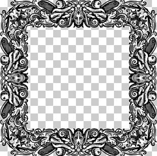 Frames Black And White Decorative Arts PNG