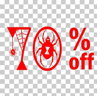 Halloween Sale 70% Off Discount Tag. PNG
