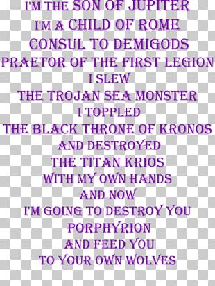 Percy Jackson & The Olympians Document Text Quotation Designer PNG