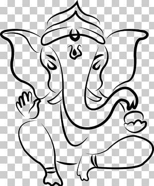 Ganesha Parvati Drawing Deity Sketch PNG