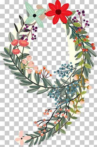 Numerical Digit Number Flower PNG