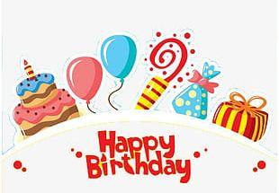 Happy Birthday Decorative Pattern PNG