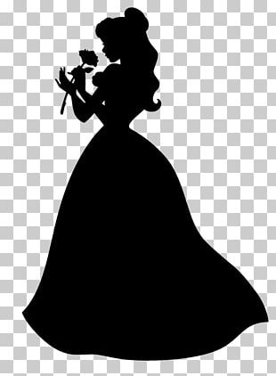 Belle Silhouette Photography Dress Beast PNG